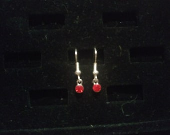 Red Gem Earring