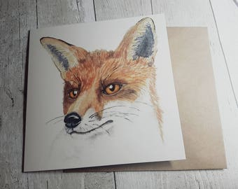 Fox - Blank Art Card