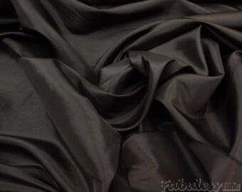 """Taffeta black  dress gown fabric per yard 58"""" wide"""