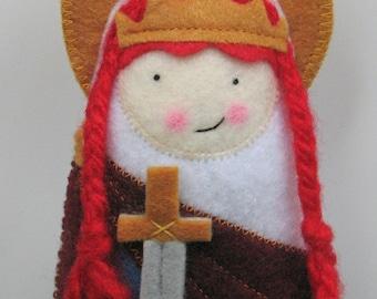Saint Dymphna Felt Saint Softie