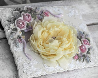Bridesmaid Yellow Hair Flower, Yellow Bridal Flower, Yellow Flower Clip, Wedding Flower Sets
