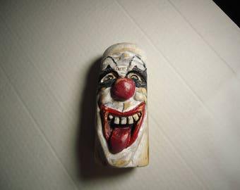 Driftwood Carving Wood Spirit Mystical Laughing Clown,Folk Art , Antique Birthday Christmas Gift