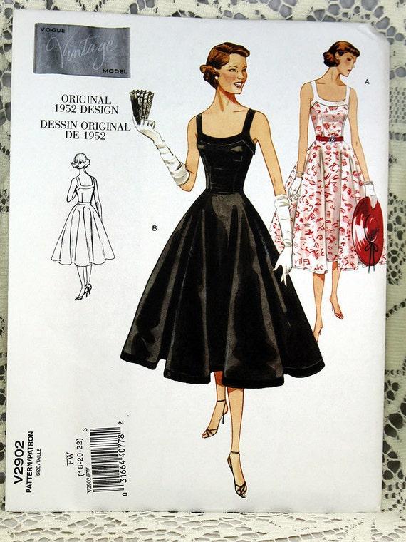 Vogue 2902, Misses\'/Misses\' Petite Retro Dress Sewing Pattern, Retro ...