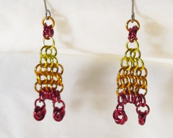 Cunning hat earrings