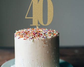 Forty cake topper, 40th birthday cake topper, 40th birthday decorations, 40th birthday party, birthday decorations, party decorations