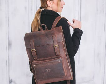 Leather backpack, Rucksack, Backpack,Leather rucksack ,Mens backpack,Women's backpack ,backpack,big backpack,brown leather backpack