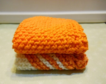 "Dishcloth's Set of 2, Size 8"" x 8 "" Kitchen Dishcloth's, Cotton Dishcloth's, Knitted Dishcloth's, Facecloth's, Cleaning Cloth's,"