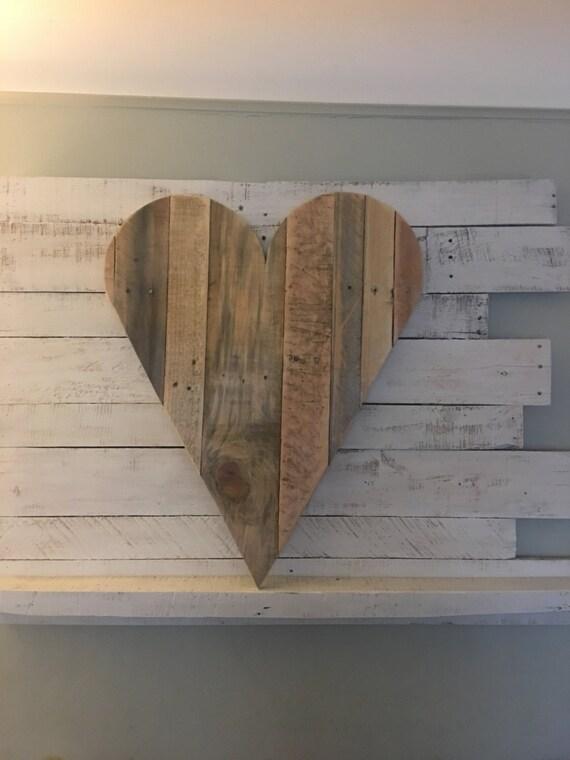 Große Holz-Herz Zeichen zurückgefordert Herz Zeichen-Holz Herz