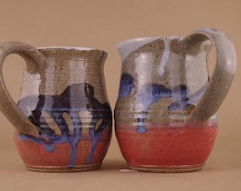 Wheel thrown Stoneware Mugs