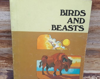 Birds And Beasts, 1980, vintage school book, macmillian reading, level 26, vintage kids book