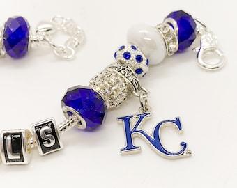Kansas City Royals jewelry bracelets all inspired and handmade