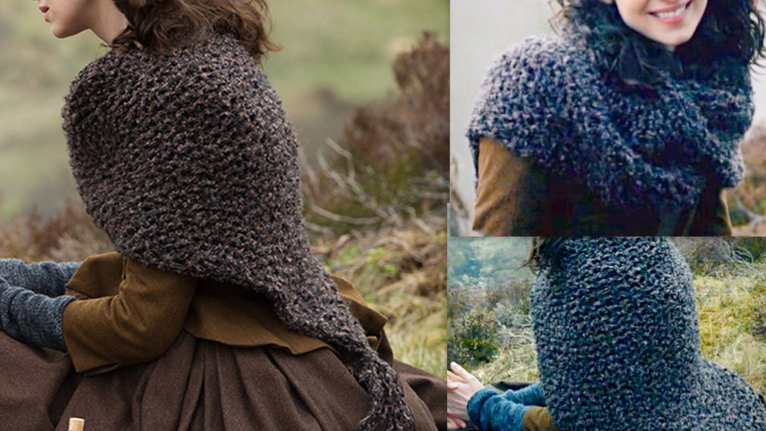 PDF knitting pattern:Outlander Knit Shawl Claire\'s Shawl /Shoulder ...
