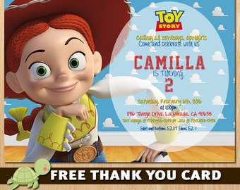 Toy Story Invitation - Toy Story Jessie Invite - Disney Toy Story Birthday  Invitation Party - Jessie