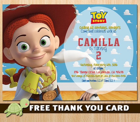Toy Story Invitation Toy Story Jessie Invite Disney Toy