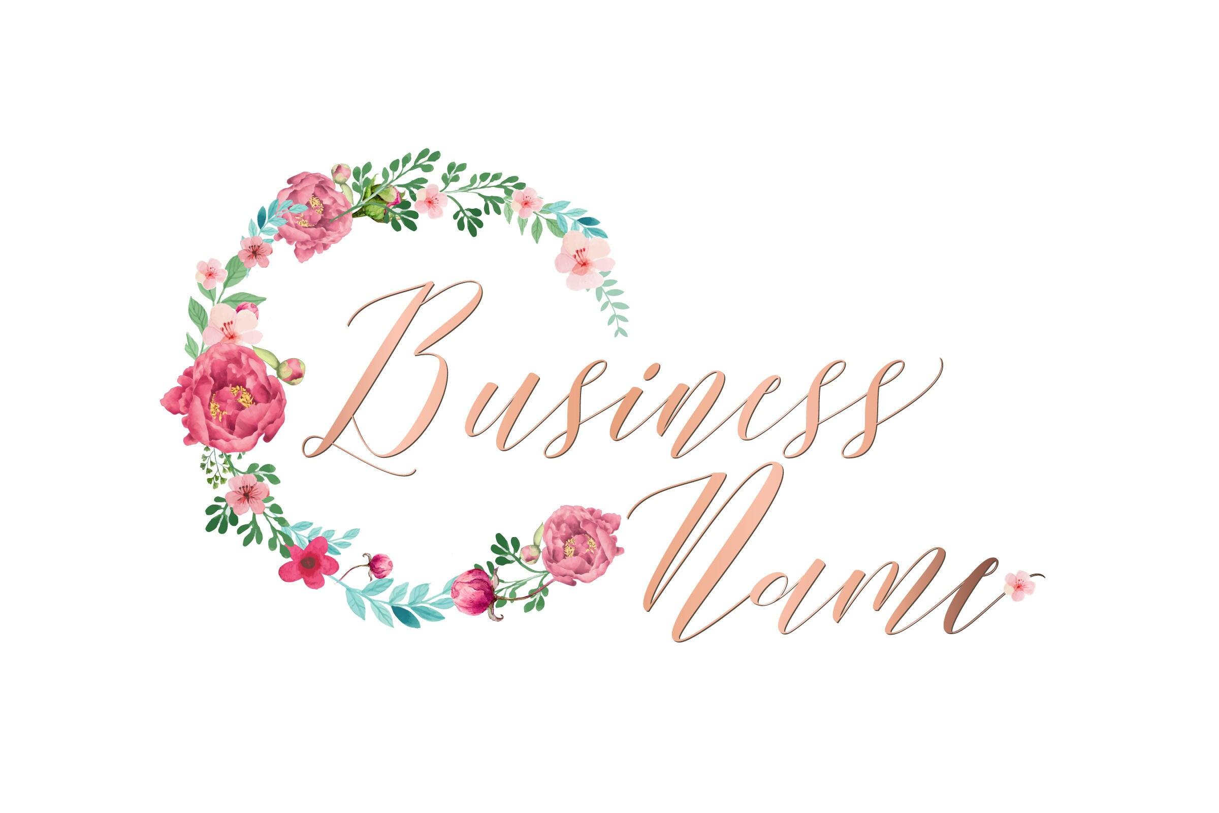 Conhecido Photography logo Custom logo design watercolor flowers logo VK11