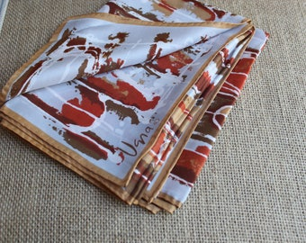 A vintage Vera Neumann silk blend scarf handrolled
