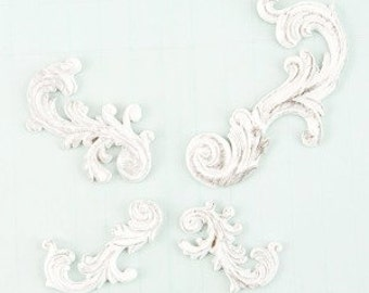 Prima Shabby Chic Treasures Collection Ingvild Bolme Resin Swirls Embellishments
