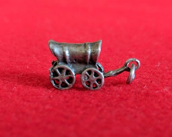 Covered Wagon for Charm Bracelet