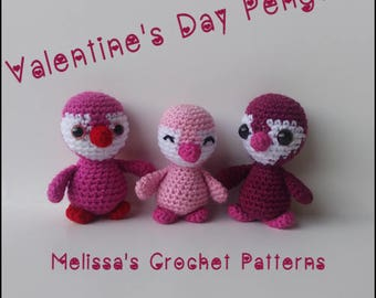 Crochet Pattern ~ Valentine's Day Penguins