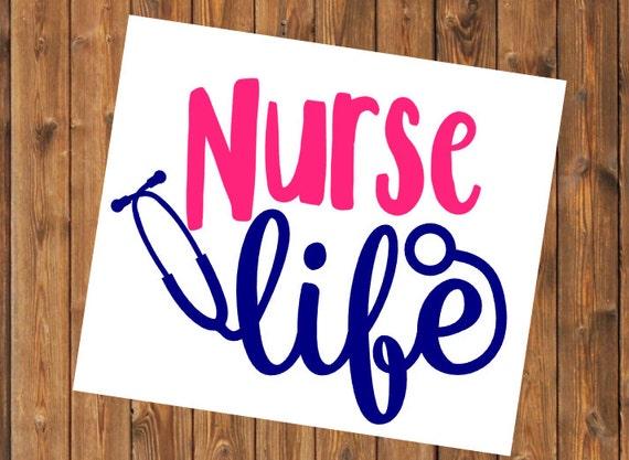 Free Shipping-Nurse Life, Nursing Life, Yeti Decal, Yeti Cooler, Laptop Sticker, Nurse, Doctor, RN, LPN, Nursing Student Yeti decal