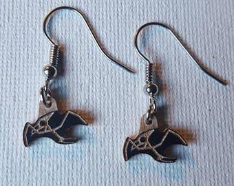 Pterodactyl dangle earrings