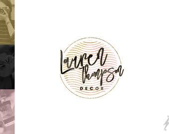 Gold Black Premade Logo Design | Wordpress Logo Design | Pastel Pink Blog Header | Fashion Blog Logo | Beauty Blog Logo | Premade Header