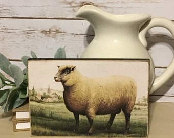 Vintage Sheep Sign,Primitive Sign,Farmhouse Decor