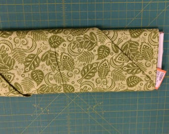 About Town fabric. Spring Green leaves leaf curls quilters cotton quilting Robert Kaufman 0316