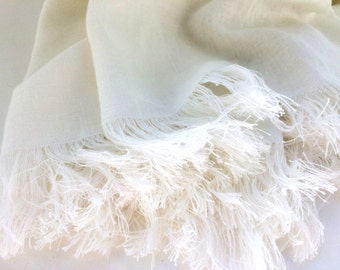 THROW BLANKET LINEN Stonewashed Linen Blanket Linen Throw Linen bedding Linen Bath Towel White Throw Blanket Linen Sheets Beach Sheet Soft