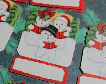 4 Vintage Christmas Tags