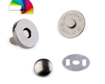 2 Round Magnetic Snaps Ø18 mm