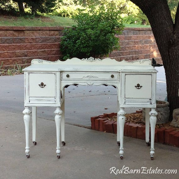 ANTIQUE DESK Custom Order Your Own Painted To Order The Shabby Chic  Furniture Shabby Desk Antique Desk Painted Desk - ANTIQUE DESK Custom Order Your Own Painted To Order The Shabby