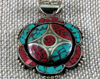 Colourful pendant from Central Asia--6181