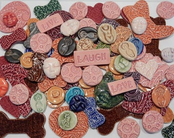 SUPER SALE...lotsa handmade ceramic mosaic tiles