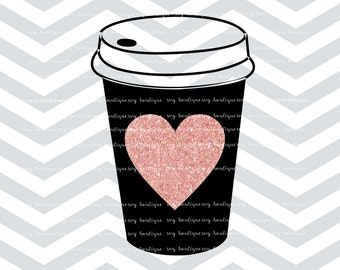 Coffee Cup SVG File, Coffee SVG, Heart, Funny Svg, Vector Cutting File, Cutting Files,  JPEG, Cricut, Silhouette, Vector Files, Overlay
