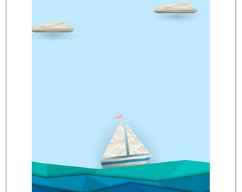 Smooth Sailing - Birthday Boat and Lighthouse