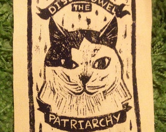 Disembowel the Patriarchy Cat Patch