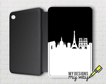 Paris City Skyline Pictaleather Kindle Case - Kindle Paperwhite And Kindle Touch