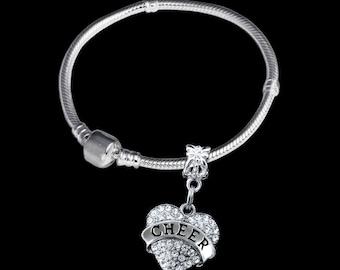 Cheer Bracelet  cheer bangle best cheer bracelet Cheerleader Bracelet  Cheerleading Bracelet  Cheerleader gift Cheering gift