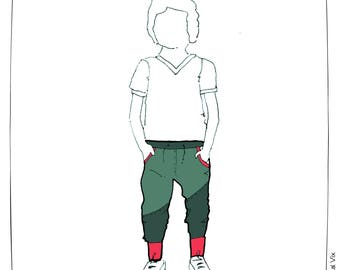 MBJM Double Trouble Joggers (prem./small newborn - age 12) PAPER sewing pattern