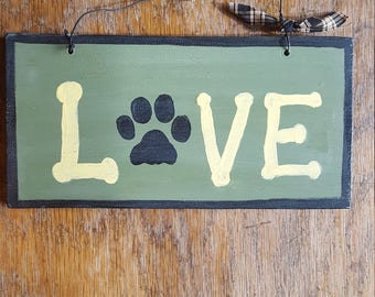 Dog Lovers Wood SIgn