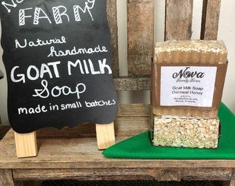 Oatmeal Honey Scented Goat Milk Soap Exfoliating