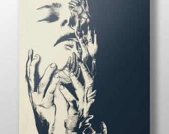 Hands That Mould Illustration - High Quality A3 / A2 Print
