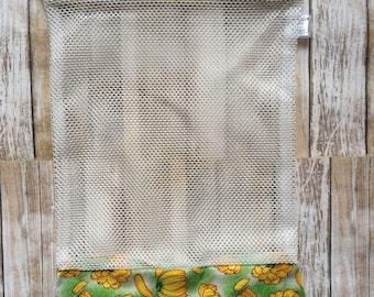 bag vegetables, fruits, mesh bag, reusable bag, banana