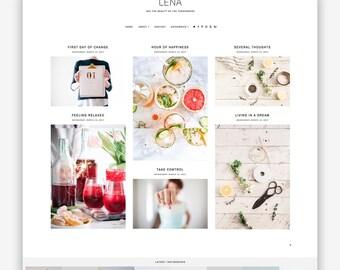Lena | Responsive Minimalist Premade Blogger Template