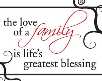 the love of family saying - digital