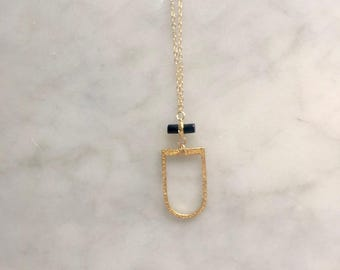 Black Onyx 14k Gold Fill Necklace