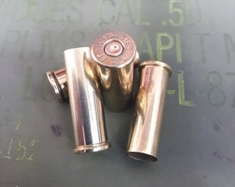 38 Special Recycled Brass Bullet Casings - Cleaned & Polished - 10 and 25 Count Available - Reloading or Craft