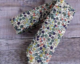 Liberty print tie - Liberty Wiltshire Berry green tie - wedding tie - Liberty tie
