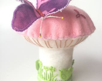 Pincushion - accessory for seamstress - mushroom needles range